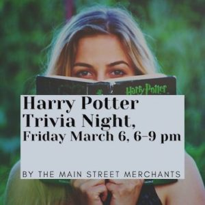 Harry Potter Trivia Night by the Main Street Merchants @ Sykesville Main Street